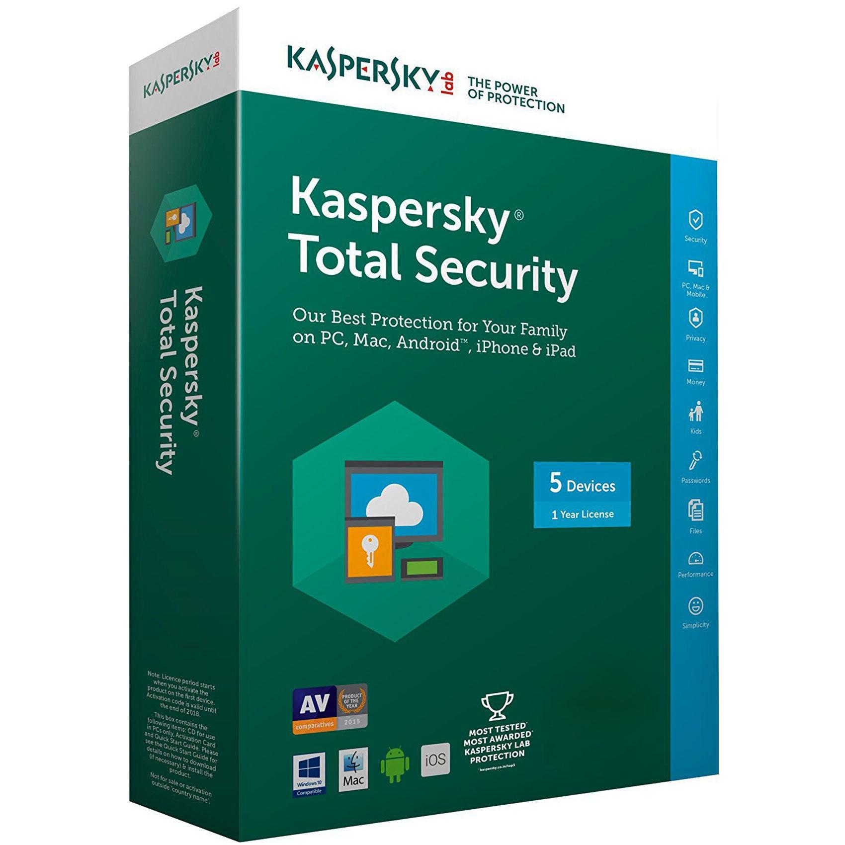 KASPERSKY TOTAL SEC MULTI 5 USER