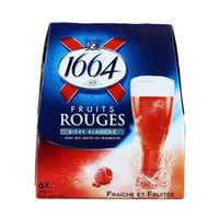 Biere Blanche Fruits Rouge 4.5% Alcohol Beer 25CL X6