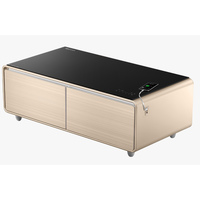 Yamada Smart Coffee Table Minibar with Smart Bluetooth Music System- Gold