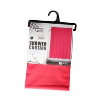 Bathlux Shower Curtain 180X180 Cm Red