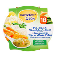 Carrefour Baby Vegetable Colin Plate 260g