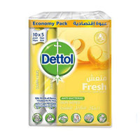 Dettol Fresh Snit-Bacterial Skin (10X5 Wipes)