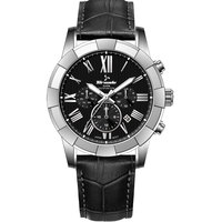 Tornado Men's Watch Multifunction Display Black Dial Black Genuine Leather Strap - T7102-SLBB
