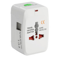 V-Max Travel Adapter with 2 USB Ports