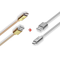 Xcell Cable CB200AC Type- C Gold + Xcell Cable CB200AC Type-C Silver