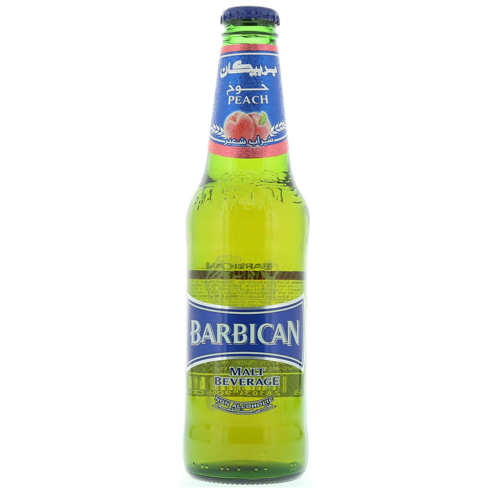 BARBICAN N/ALCO BEER PEACH 330ML