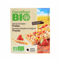 Carrefour Bio Organic Cereal Bar Strawberry 125g