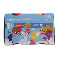 Carrefour Kid Raspberry Vanilla Pocket Yoghurt 90gx6