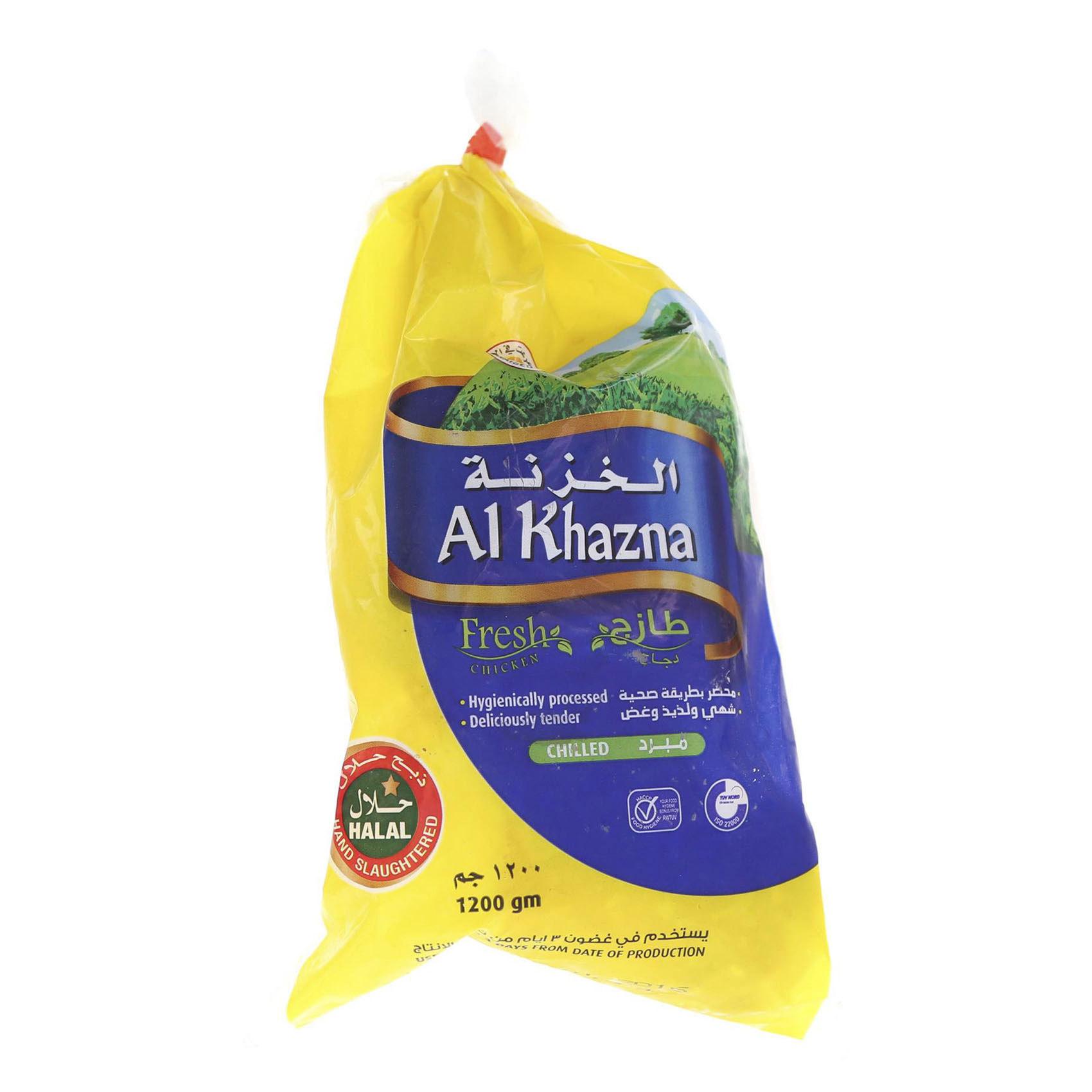 AL KHAZNA CHICKEN FRESH 1.2KG