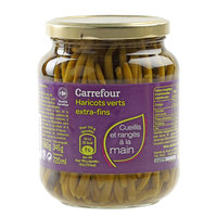 Carrefour Green Beans Extra fine Jar 700ml