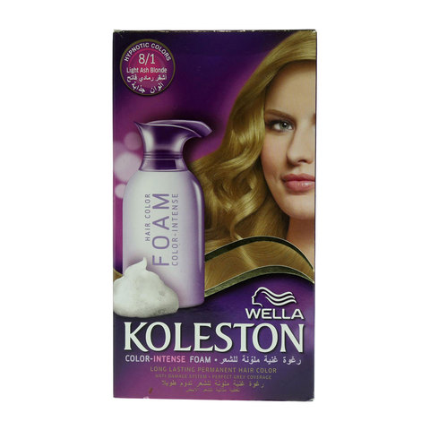 Wella-Koleston-8/1-Light-Ash-Blonde-Color-Intense-Foam