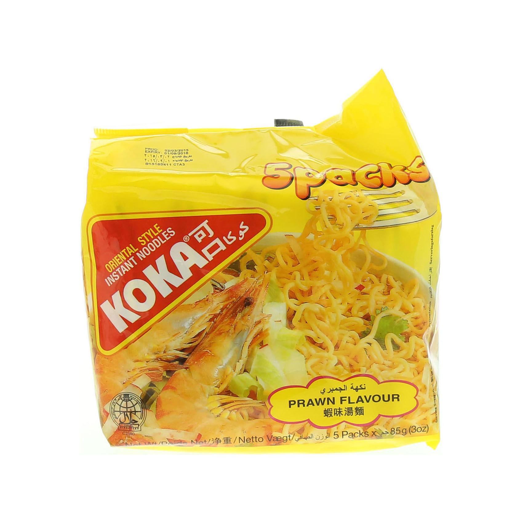 KOKA NOODLES PRAWN 85GRX5