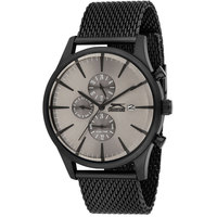 Slazenger Men's Multifunction Display Grey Dial Black Stainless Steel Bracelet - SL.9.6002.2.01