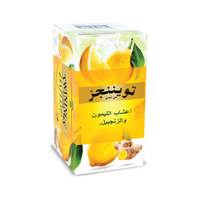 Twinings of london lemon & ginger herbal tea 1.5 g x 20 Bags