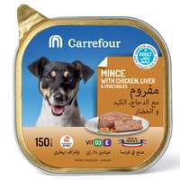 Carrefour Dog Food Mince With Chicken,Liver & Vegetables 150g
