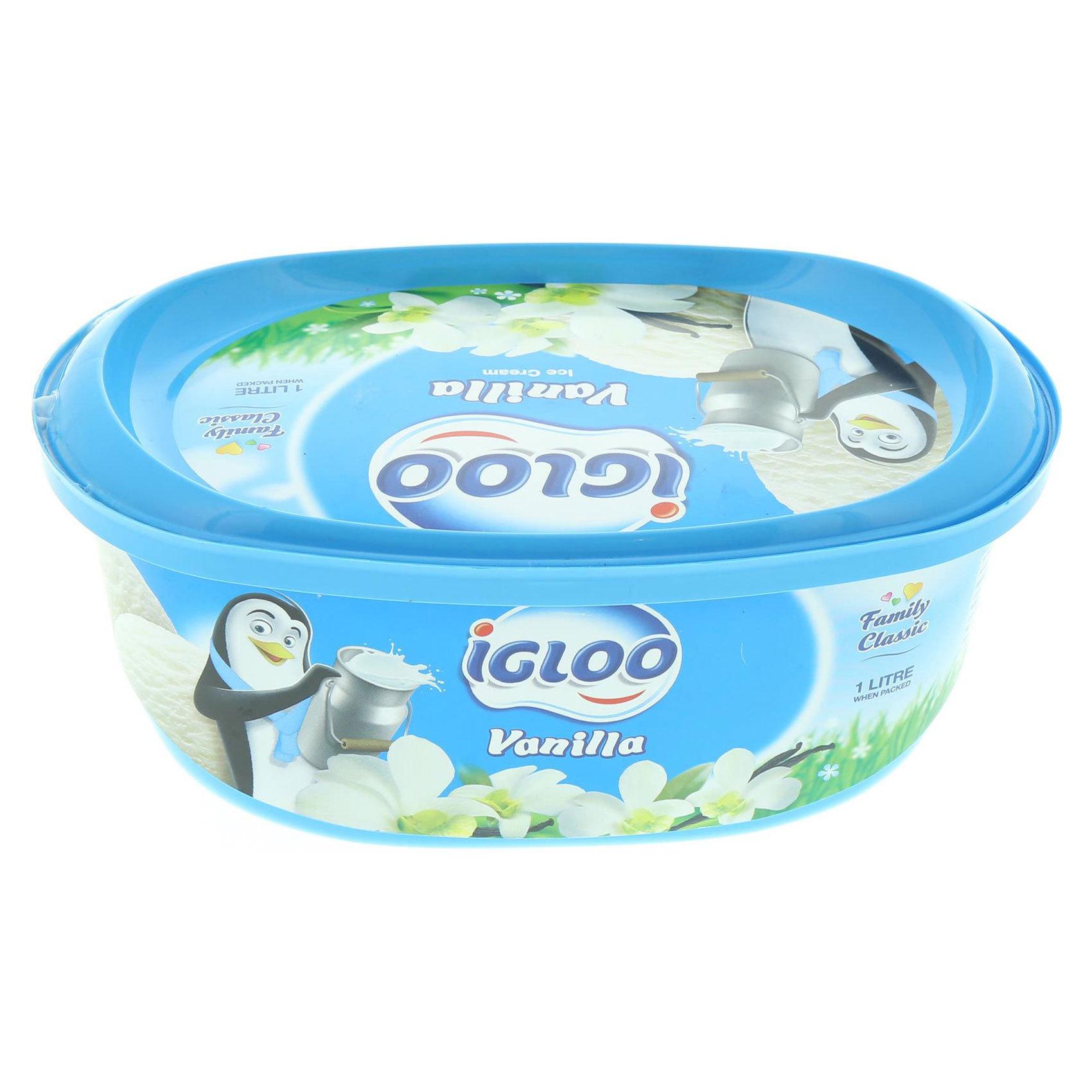 IGLOO ICE CREAM VANILLA 1L