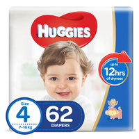 Huggies Superflex Baby Diaper Size 4 Large 7-18kg 62 Pieces