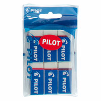 Pilot Plastic Eraser 6Pcs