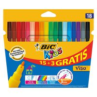 Bic Coloring Felt Pen Visa Wallet 15+3