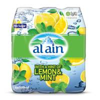 Al Ain Bottled Drinking Water with a Hint of Lemon & Mint 500mlX6