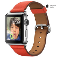 Apple Watch Series 1 38mm Stainless Steel Case With Red Classic Buckle