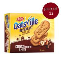 Tiffany Oatsville Breakfast Choco Chips & Nuts Biscuits 50 g x 12