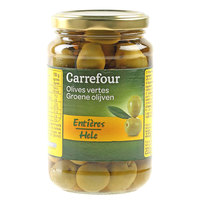 Carrefour Green Olives 200g