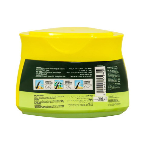 Vatika-Naturals-Hair-Styling-Cream-Dandruff-Guard-Lemon,-Tea-Tree,-Almond-210ml