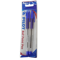 Pilot Ball Point Grip Pen Fine 2Bk