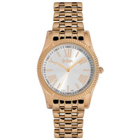 Lee Cooper Women's Analog Rose Gold Case Rose Gold Super Metal Strap Silver Dial -LC06318.430