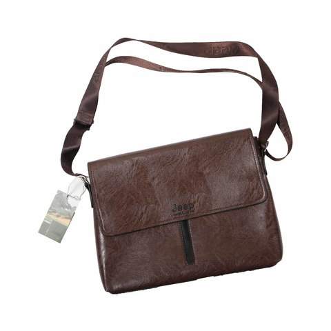 2c04a0c6c9ca Buy Jeep Shoulder Bag Leather Size 12 Inch Online - Shop null on ...