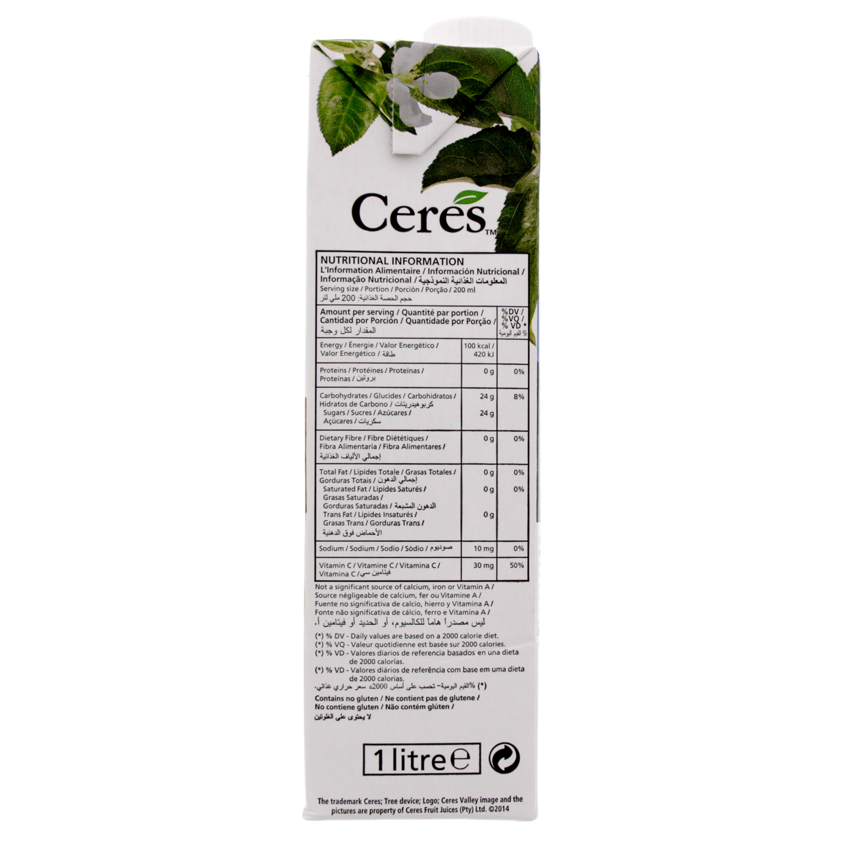 CERES JUICE LITCHI 1L