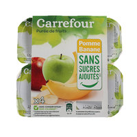 Carrefour Apple Banana 100g x4
