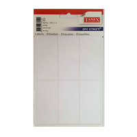 Tanex  Label 33X74Mm 6L White