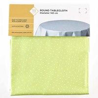 TEX Table Cloth Round 140 Light Green