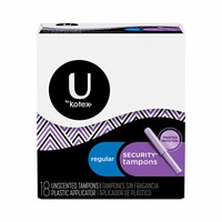 Kotex Ladies Tampons Regular Unscented 18 Napkins