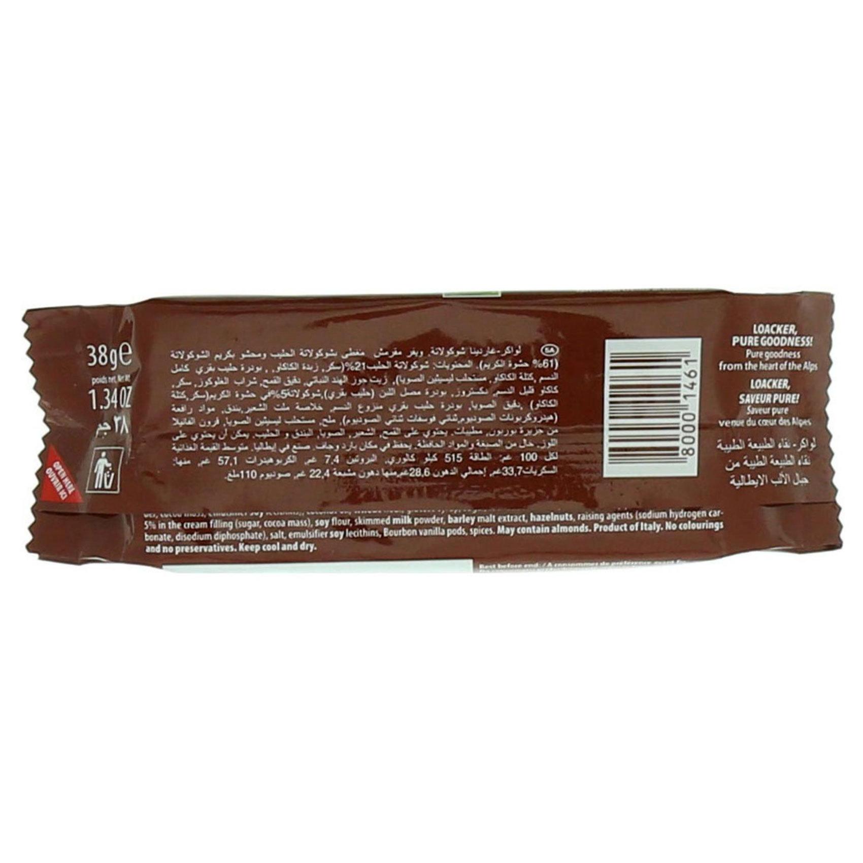 LOACKER GARDENA CHOCOLATE 38GR