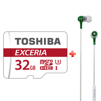 Toshiba Micro SDHC M302 90MB/s + Headset RZE100