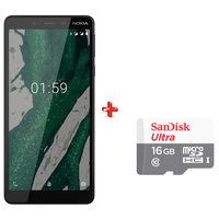 Nokia 1 Plus Dual Sim 8GB Black + Micro SD 16GB