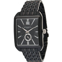 Mount Royale Men's Watch Black Dial Stainless Steel Band Casual-7Q83