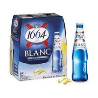1664 Blanc Beer Bottle 25CL X6