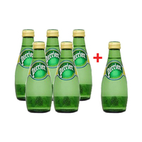 Perrier Sparkling Mineral Water Glass Bottle 200ML 5+1