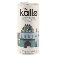 Kallo Lightly Salted Whole Grain Low Fat Rice Cakes 130g