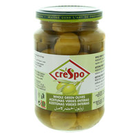 Crespo Whole Green Olives 550g