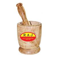 Raj Wooden Mortar 10Cm