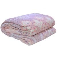 3D Super Soft Flannel Blanket King Honey Comb Peach