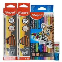 Maped pencils + 12 color Animal +Eraser + Sharpener
