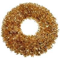 Wreath Tinsel Deco Shiny Copper 40Cm
