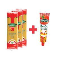 Panzani Spaghetti 500gx3 + Panzani Pasta Sauce 180g
