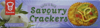 Garden Savoury Crackers Garlic & Herb 150g